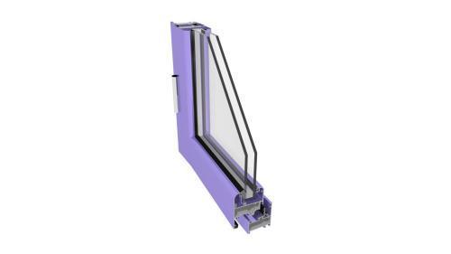 Tierre 450 - Giunto aperto (serie finestra) - Doppia battuta (serie porta)